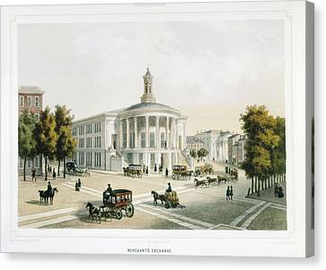 Londoners Canvas Print - London Stock Exchange 19th C by Everett