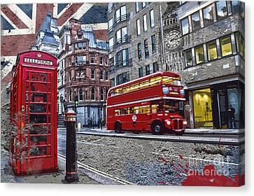 London Street Creation Canvas Print