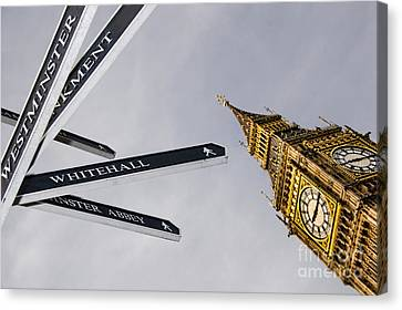 Westminster Abbey Canvas Print - London Street Signs by David Smith