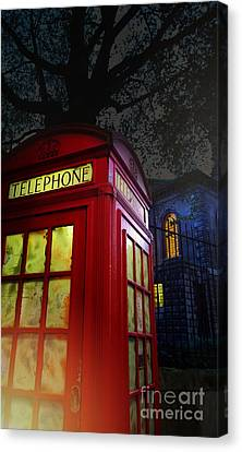 London Tardis Canvas Print by Jasna Buncic