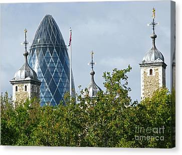 London Towers Canvas Print by Ann Horn