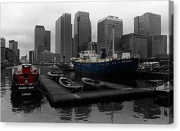 London's Docklands Canvas Print by Martin Newman