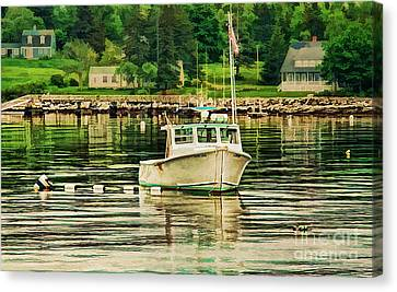 Lone Boat Canvas Print
