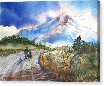 Lone Cone Dog Walk Canvas Print