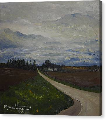 Lone Country Road Canvas Print by Monica Veraguth