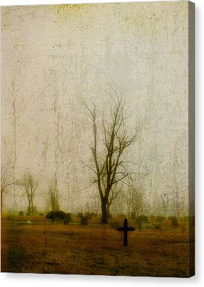 Lone Cross Canvas Print by Gothicrow Images