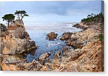 Lone Cypress Panorama - Pebble Beach In Monterey California Canvas Print