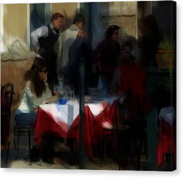 Lone Diner Canvas Print by Ron Harpham