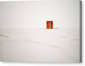Lone Ice Shanty Canvas Print