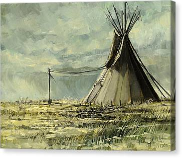 Lone Lodge Canvas Print by Steve Spencer