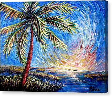 Lone Palm Canvas Print by Sebastian Pierre