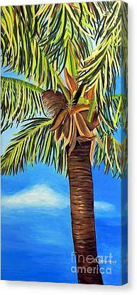 Lone Palm Canvas Print by Shelia Kempf