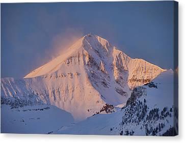 Lone Peak Alpenglow Canvas Print by Mark Harrington
