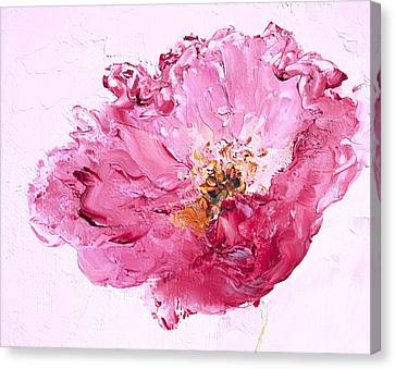 Lone Pink Poppy Canvas Print by Jan Matson