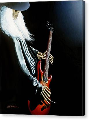 Lone Player Canvas Print by Gary Kroman
