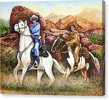 Lone Ranger And Tonto Ride Again Canvas Print
