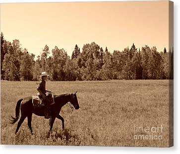 Canvas Print featuring the photograph Lone Ranger by Sarah Mullin