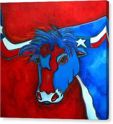 Lone Star Longhorn Canvas Print by Patti Schermerhorn