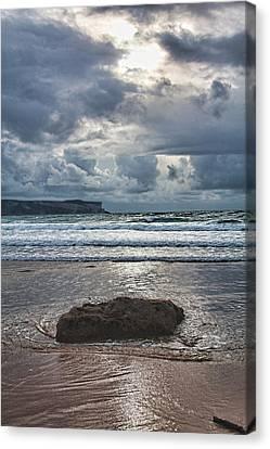 Lone Stone Canvas Print by Angel Jesus De la Fuente