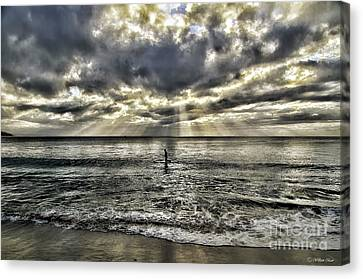 Lone Surfer Canvas Print by Bill Baer