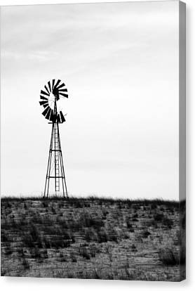 Canvas Print featuring the photograph Lone Windmill by Cathy Anderson