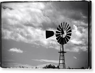 Lone Windmill On The Prairie Canvas Print