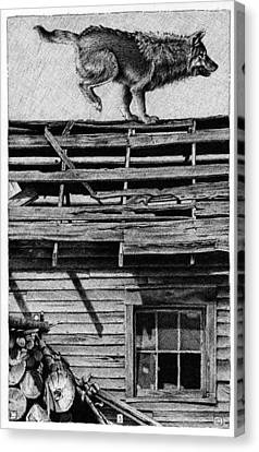 Old Shed Canvas Print - Lone Wolf by Chip Skelton