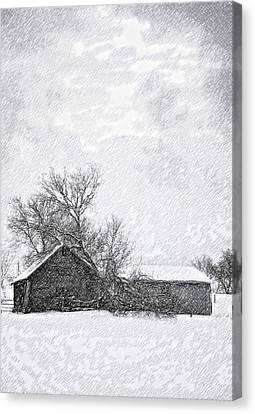 Loneliness Sketch Canvas Print by Steve Harrington