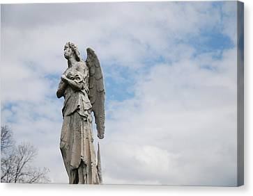 Lonely Angel Canvas Print by Jennifer Ancker