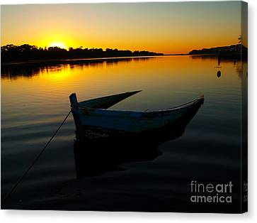 Canvas Print featuring the photograph Lonely At Sunrise by Trena Mara
