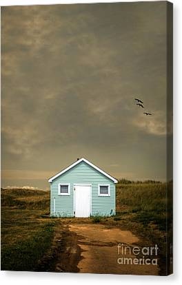 Lonely Beach Shack Canvas Print by Edward Fielding