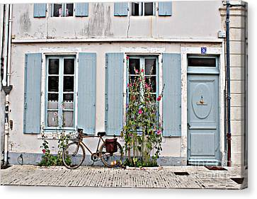 Canvas Print featuring the photograph Lonely Bicycle... by Cendrine Marrouat