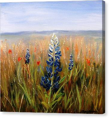 Lonely Bluebonnet Canvas Print by Patti Gordon