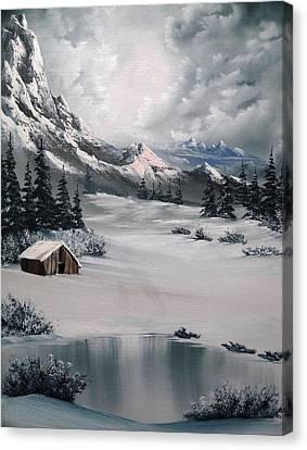 Bob Ross Canvas Print - Lonely Cabin by John Koehler
