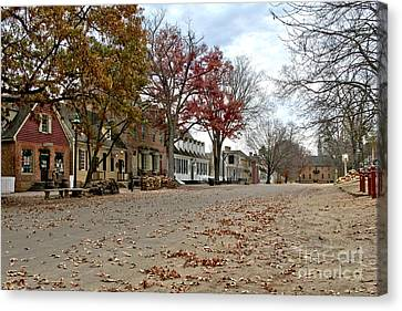 Canvas Print featuring the photograph Lonely Colonial Williamsburg by Olivier Le Queinec