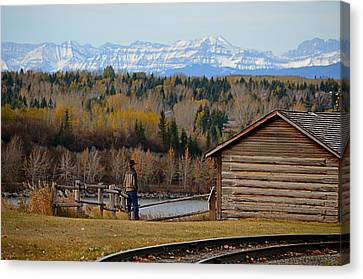 Mountain Cabin Canvas Print - Miner's Cabin by Maria Angelica Maira