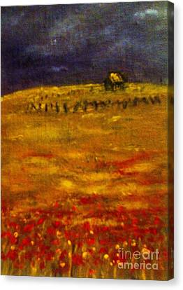 Lonely Farmhouse Canvas Print by C Fanous