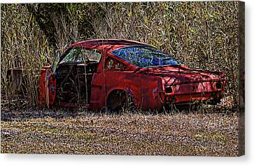 Canvas Print featuring the photograph Lonely Fastback by Victor Montgomery