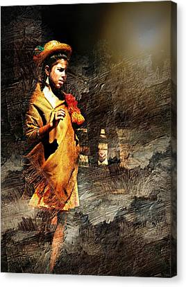 Lonely Girl Canvas Print by Diana Angstadt