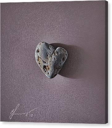 Lonely Heart Canvas Print by Elena Kolotusha