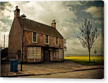 Lonely House On The Shore Of The River Forth. Culross Sketches. Scotland Canvas Print by Jenny Rainbow