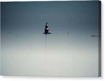 Lonely Lighthouse  Canvas Print by Karol Livote
