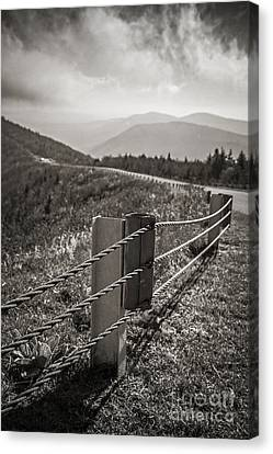 Lonely Mountain Road Canvas Print by Edward Fielding