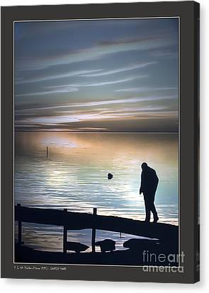Lonely Shore Canvas Print by Pedro L Gili