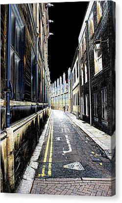 Lonely Street Canvas Print by Oscar Alvarez Jr