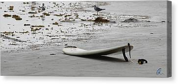 Lonely Surfboard Lg Canvas Print