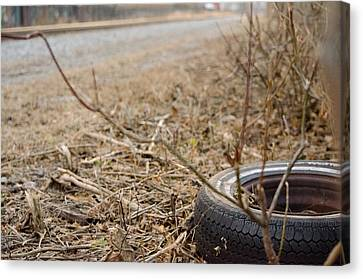 Lonely Tire Canvas Print