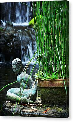 Canvas Print featuring the photograph Lonely Water Pixie by Amanda Vouglas