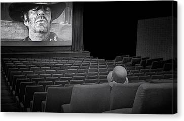 Empty Chairs Canvas Print - Lonely...at The Movies... by Marie-anne Stas