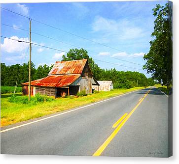 Old Country Roads Canvas Print - Lonesome Country Roads In The South by Mark E Tisdale